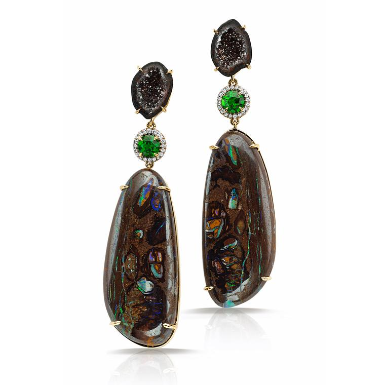 Pamela Huizenga opal earrings