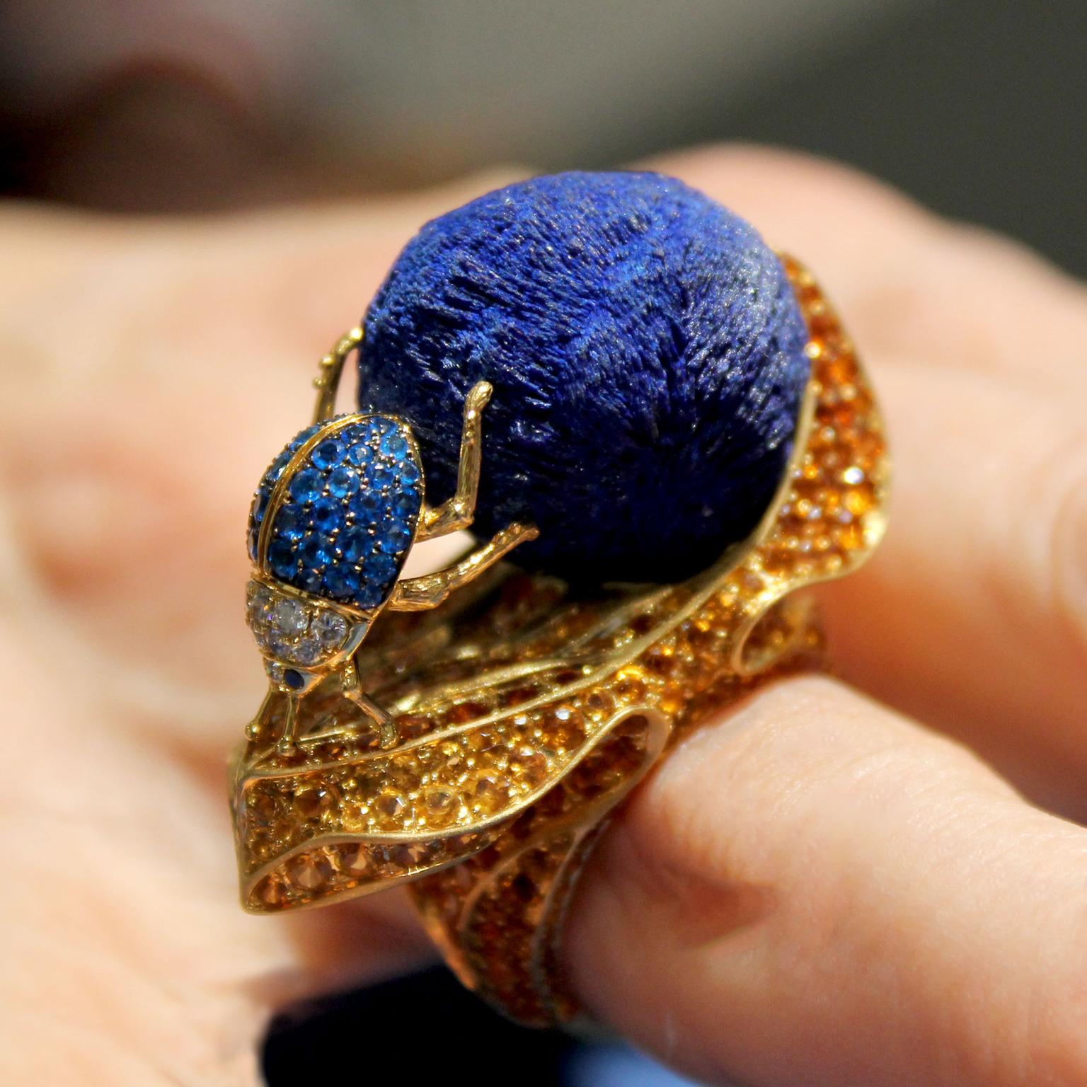 Lydia Courteille Sahara dung beetle ring