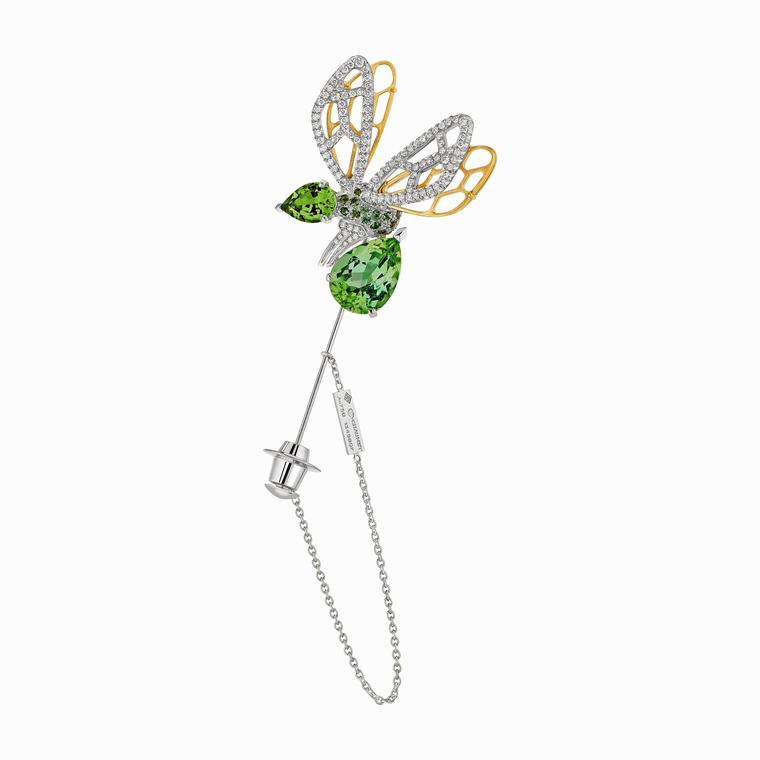 Chaumet Abeille green tourmaline brooch