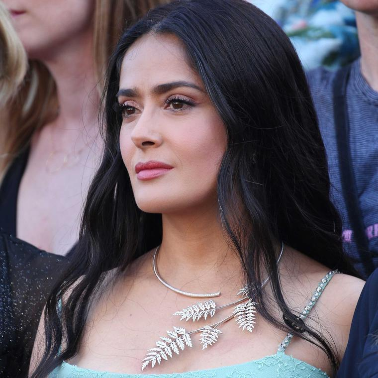 Salma Hayek in Boucheron necklace at Cannes Film Festival Women in Motion