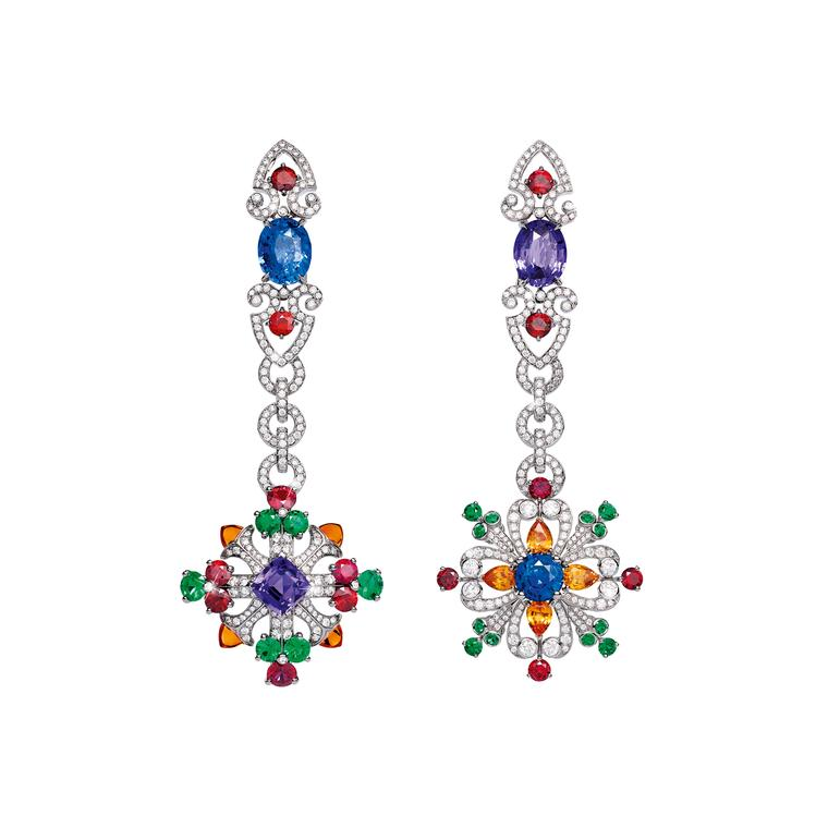 Giampiero Bodino Rosa Dei Venti blue and purple sapphire earrings