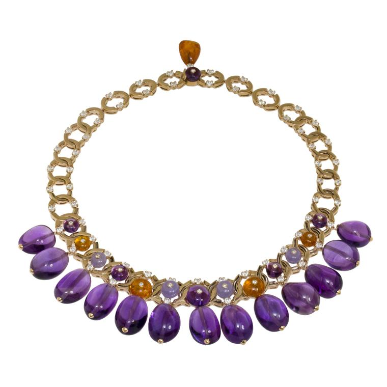 Bulgari Festa amethyst drops high jewellery necklace