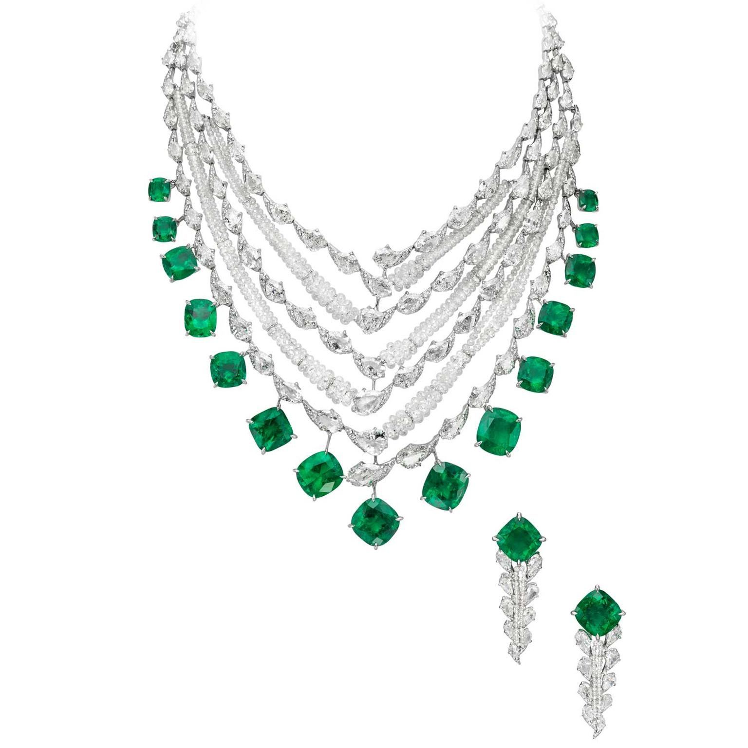 Boghossian Colombian emerald and diamond necklace