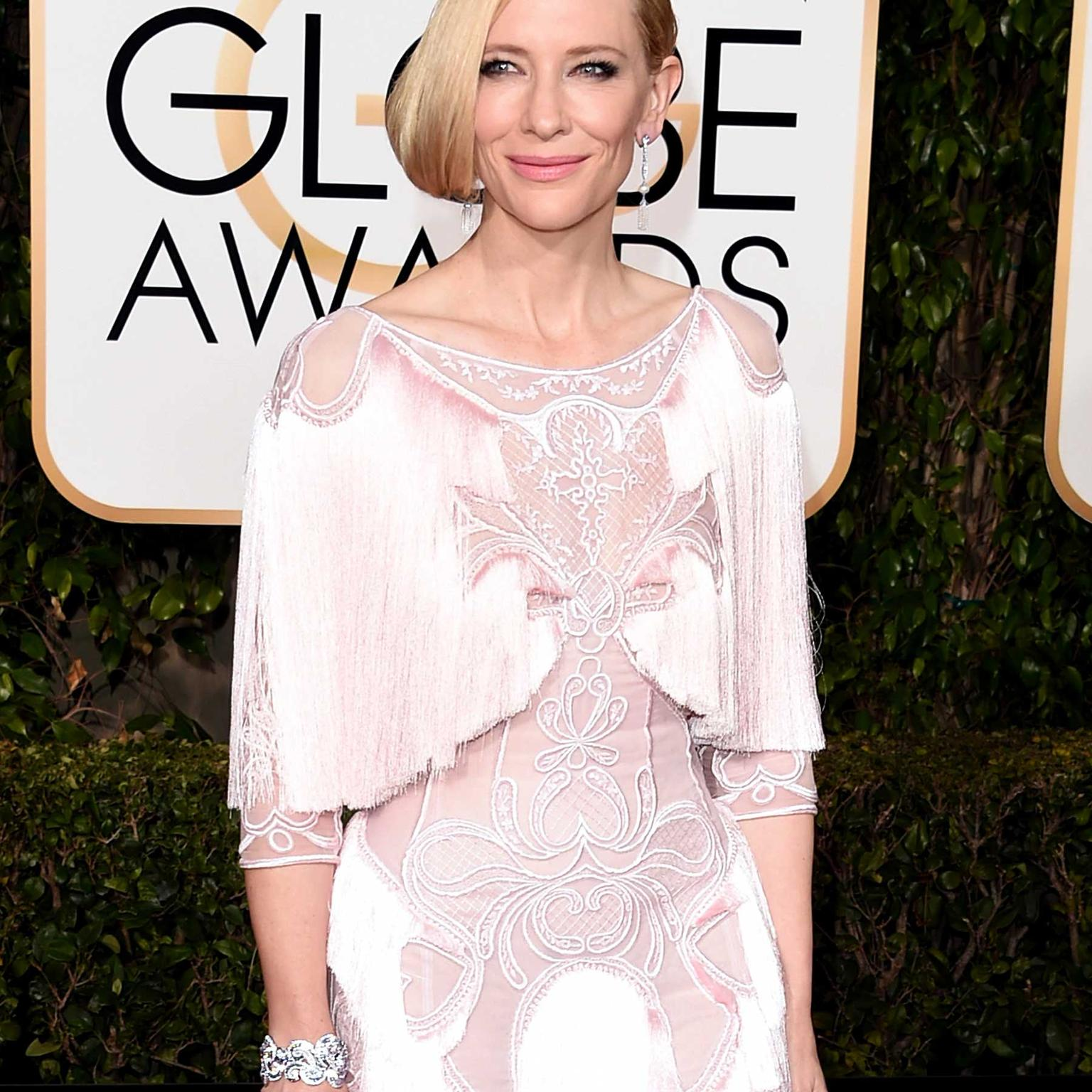 Cate Blanchett wore Tiffany jewelry at the Golden Globes 2016