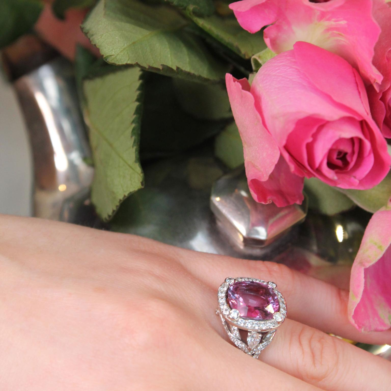 Fabergé pink sapphire engagement ring