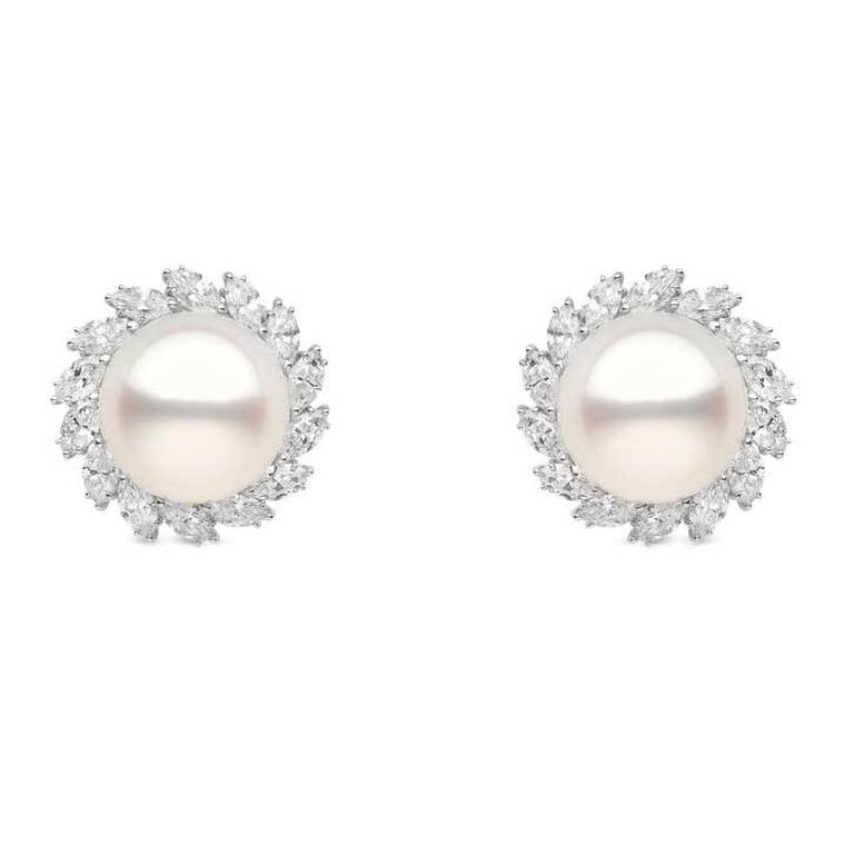 YOKO London wedding-day pearl earrings