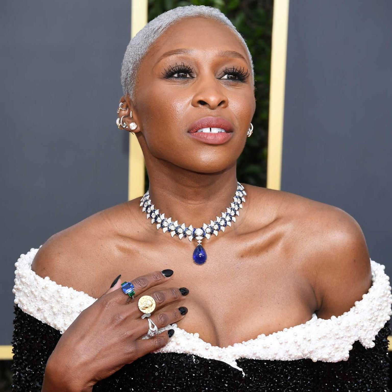 Cynthia Erivo Golden Globes Bulgari jewels