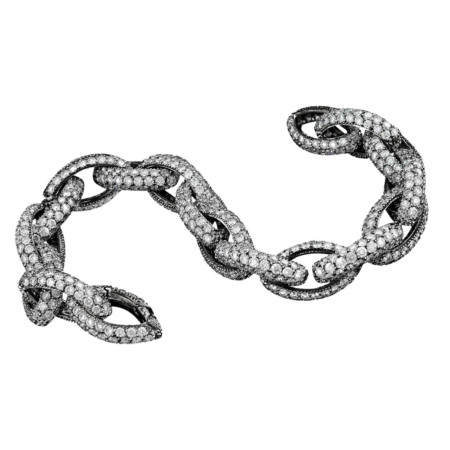 Avakian diamond Links bracelet