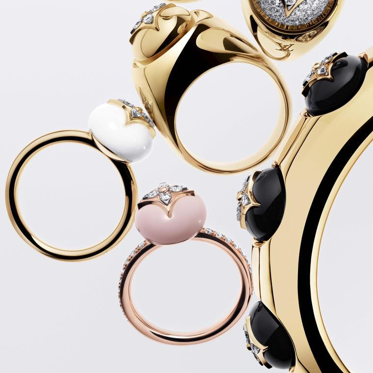 Louis Vuitton B Blossom rings and cuff