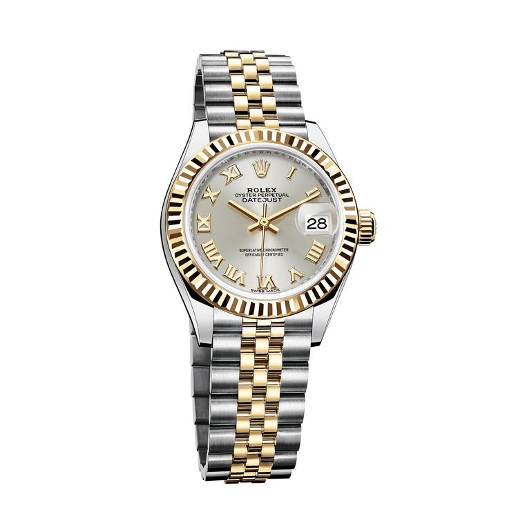 Oyster Perpetual Lady-Datejust 28mm watch in Yellow Rolesor