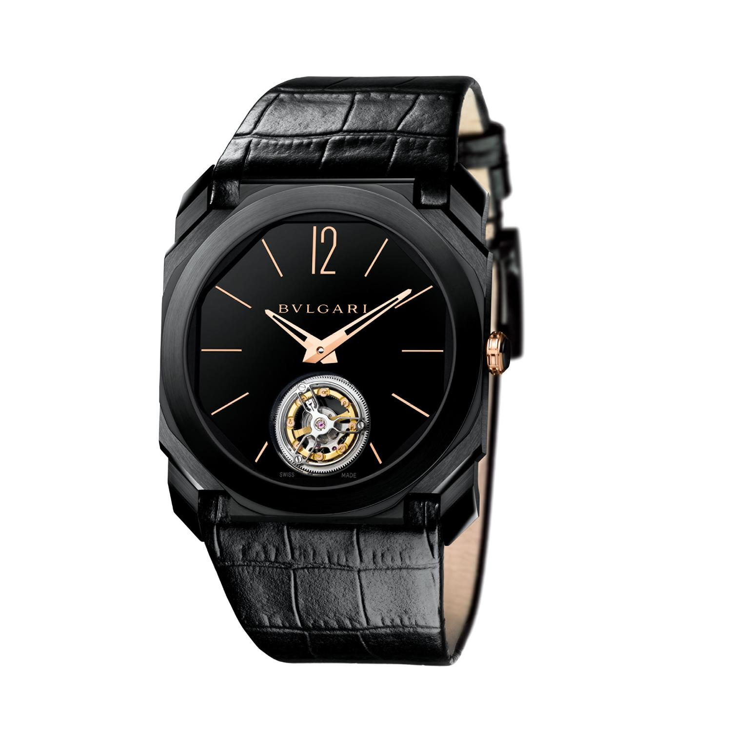 Bulgari Octo Ultranero Tourbillon watch