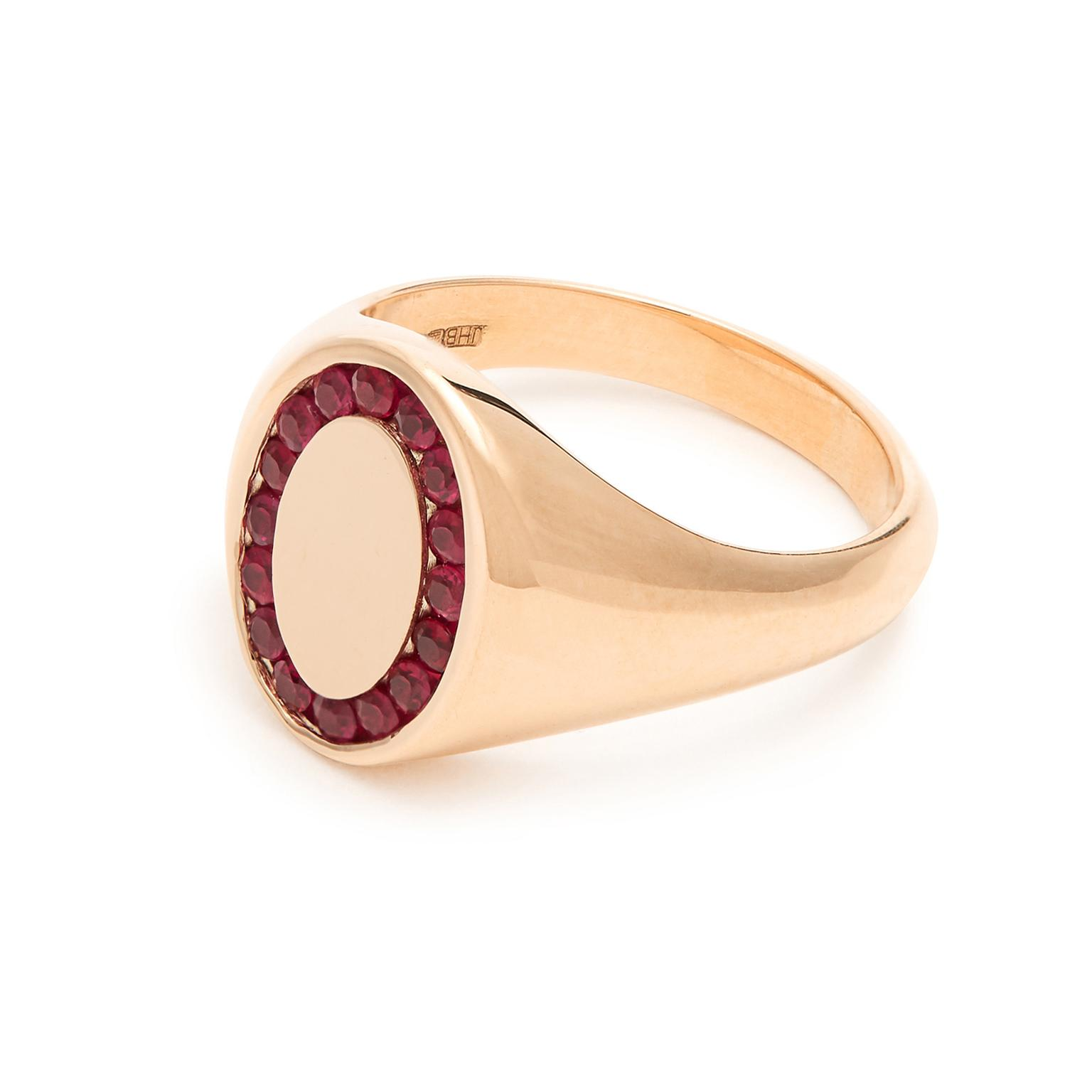 Jessica Biales Candy ruby signet ring