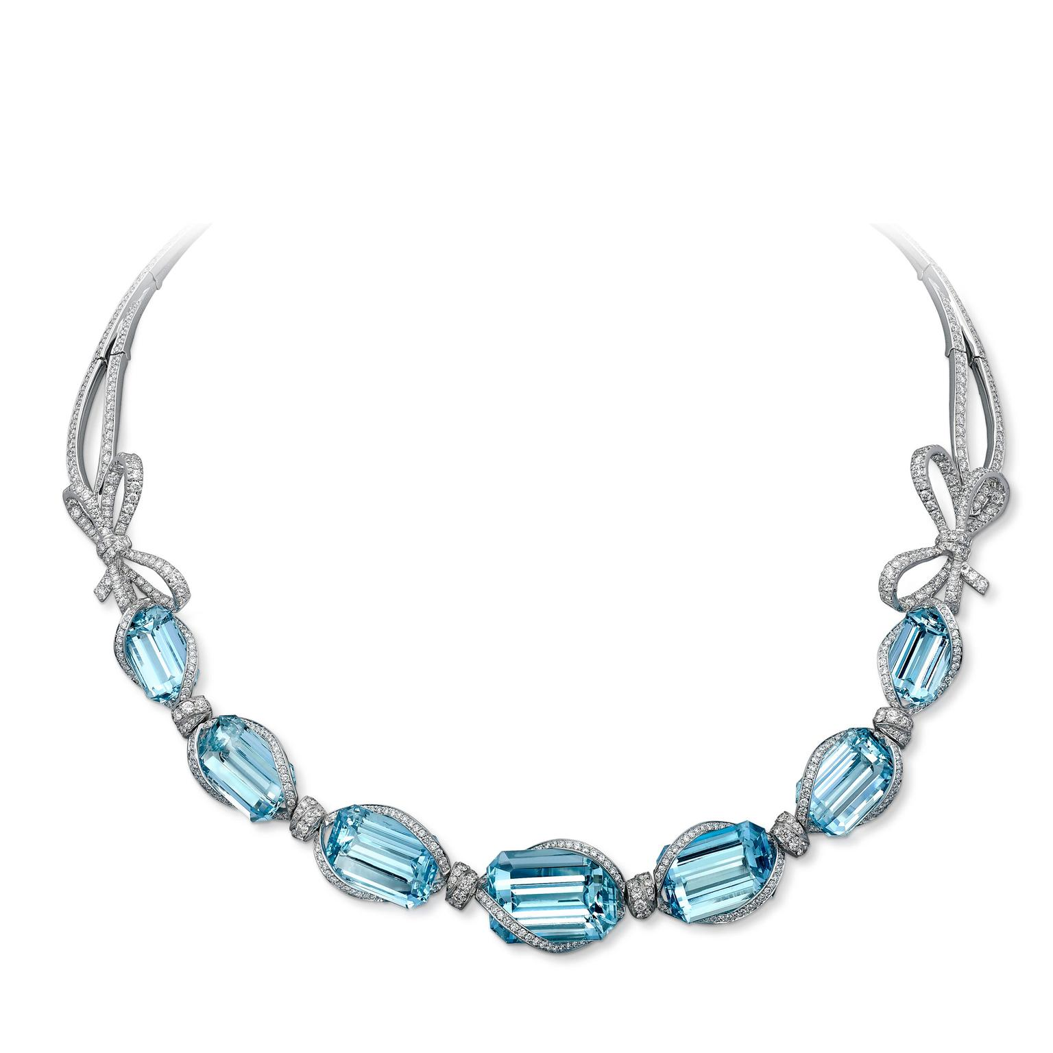 VANLELES aquamarine and diamond necklace