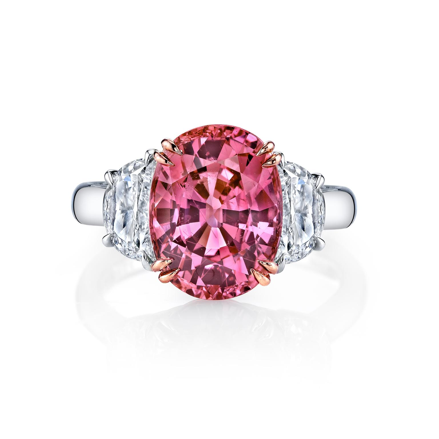 Omi Privé padparadscha ring
