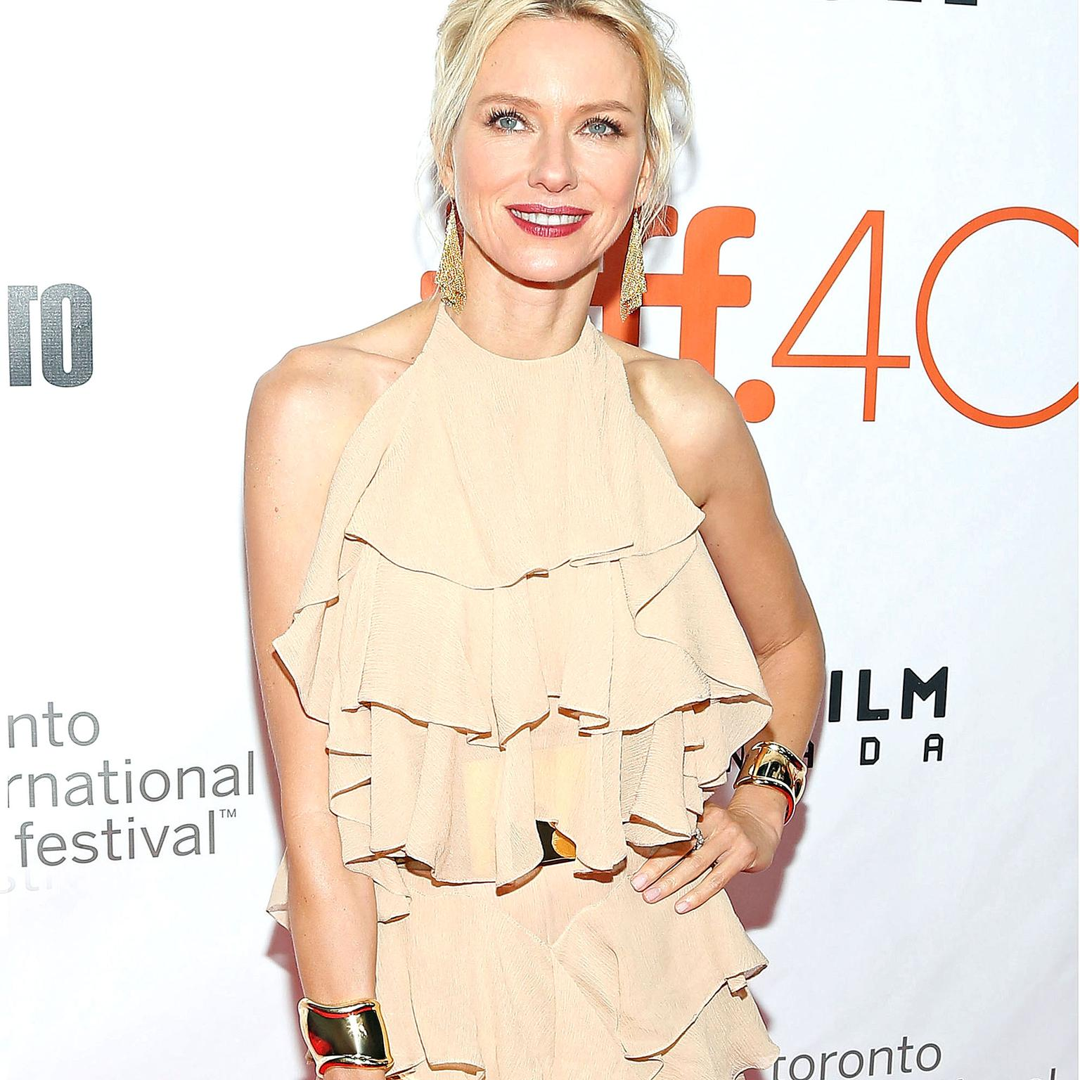 Naomi Watts wearing Elsa Peretti Bone cuffs