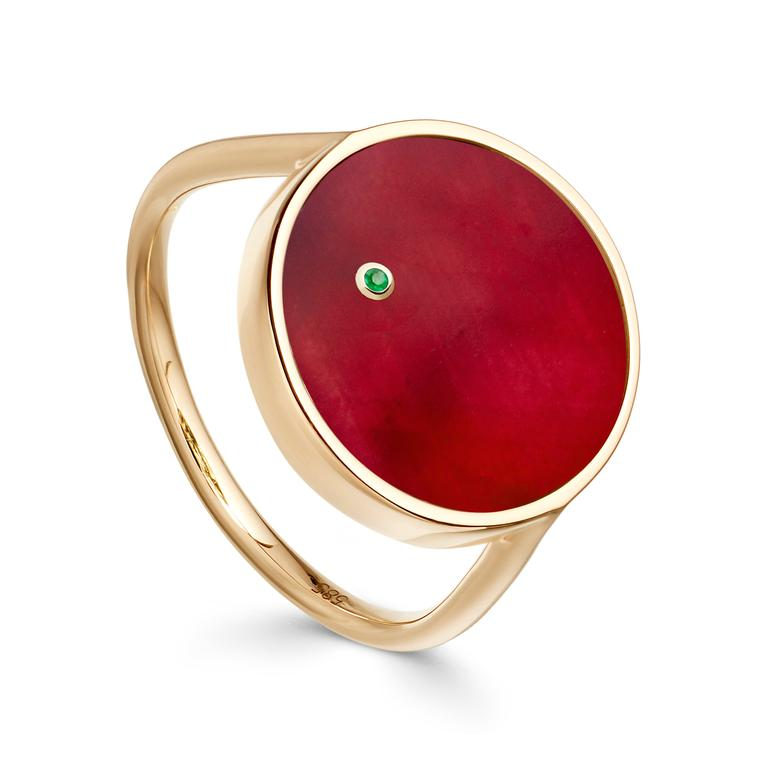 Astronomy Mars ruby ring