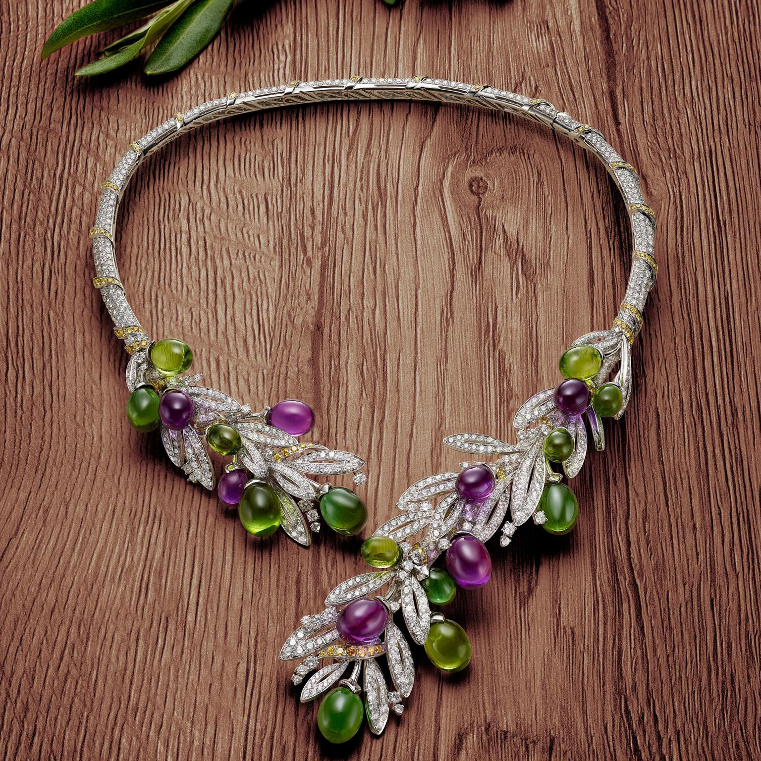 Bulgari Festa Olive high jewellery necklace