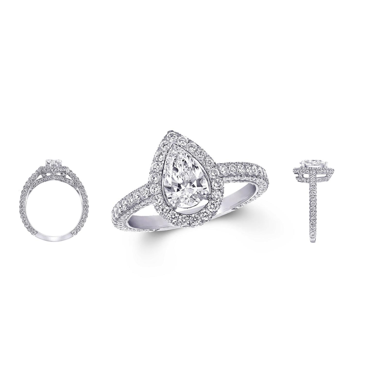 bridal diamond choice engagement stylish co gaining popularity love eshop engagementrings with cut rings remain your banners gabriel style are but remarkable a distinctively vintage pear today shaped commemorate