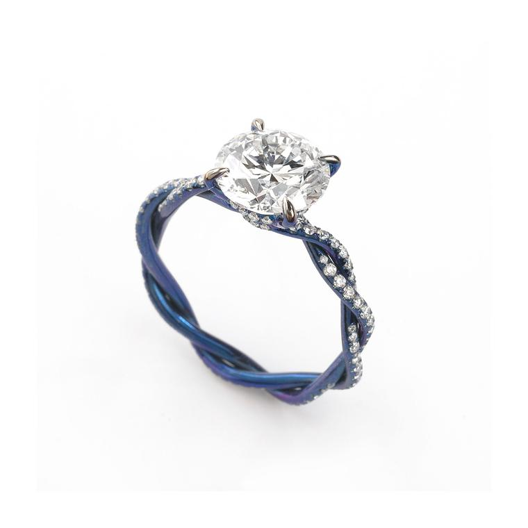 Glenn Spiro at Harrods blued titanium ring