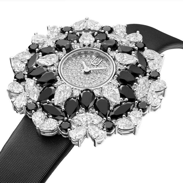 Harry Winston Kaleidoscope High Jewellery watch with diamonds side