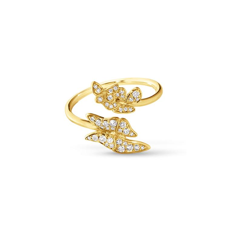 Jordan Askill for Georg Jensen diamond Butterfly ring