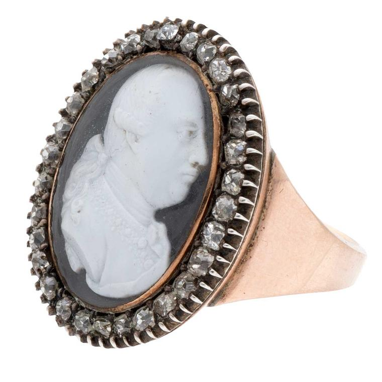 Portrait ring featuring George III