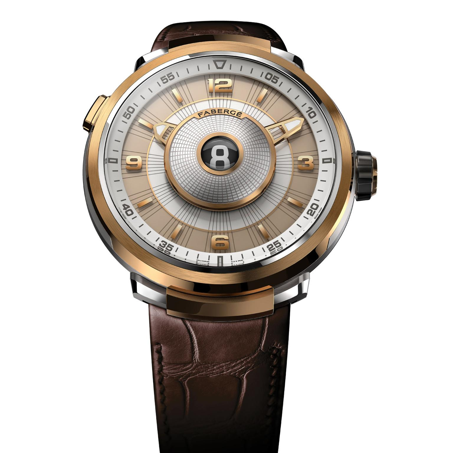 Fabergé Visionnaire DTZ watch in rose gold