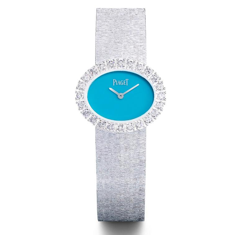 Piaget white gold watch with Turquoise dial