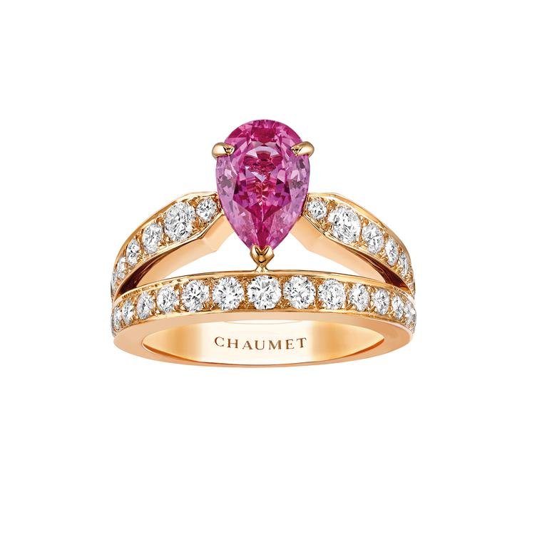 Chaumet Joséphine pink sapphire ring