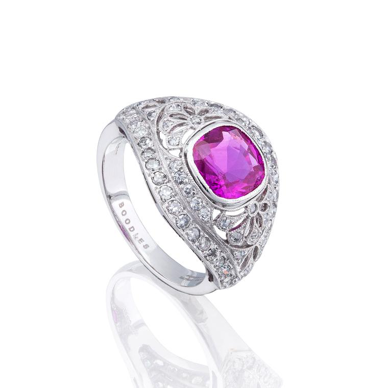 Boodles burmese ruby ring