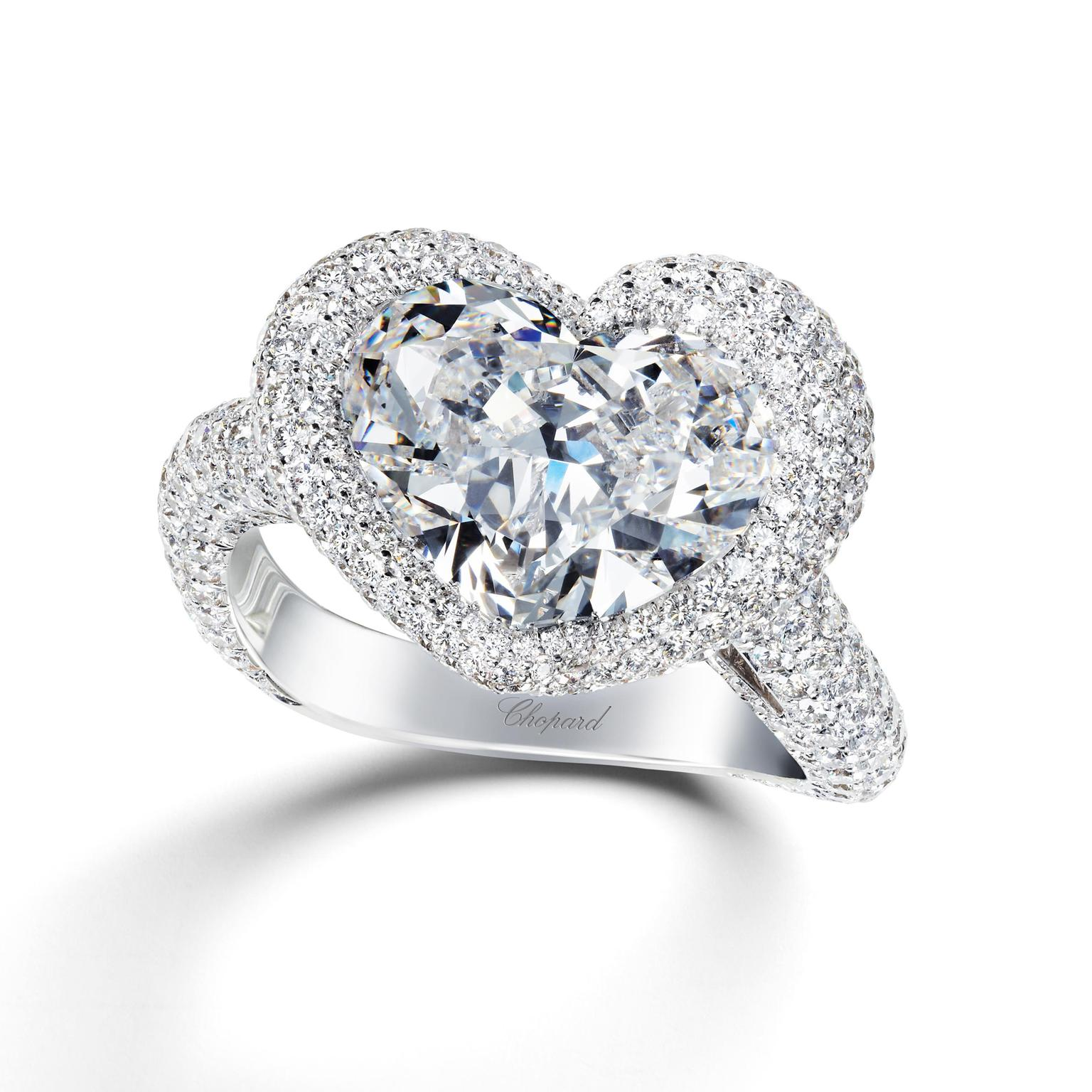 Chopard heart-shaped diamond engagement ring