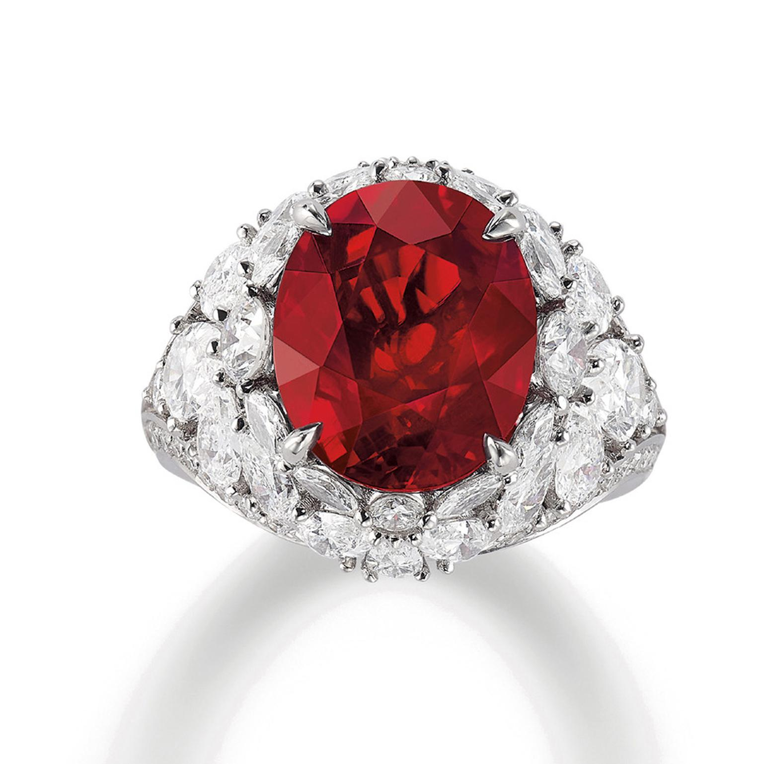 Lot 588 Ruby and diamonds ring Phillips auction