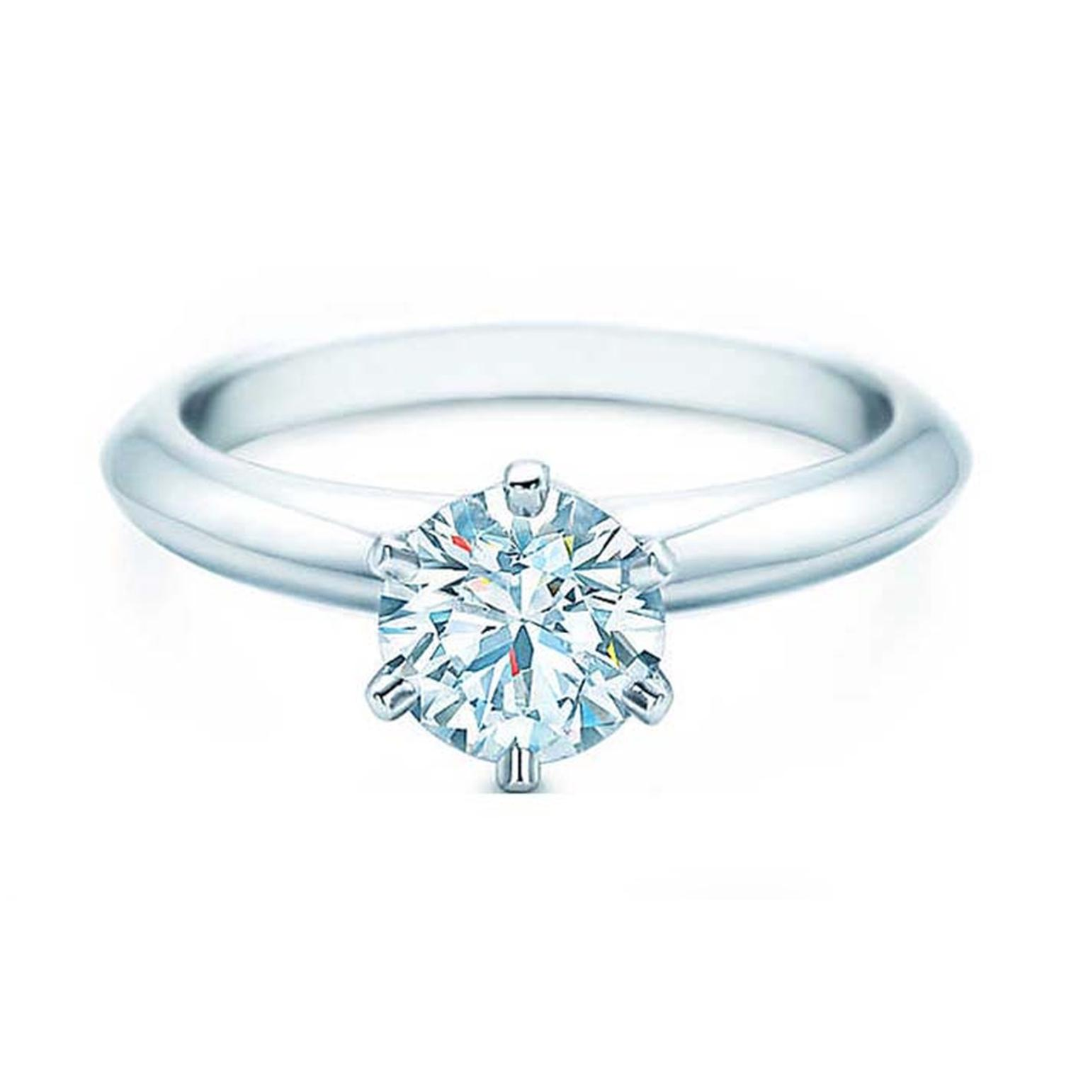 1 carat diamond tiffany setting engagement ring tiffany for Wedding ring companies