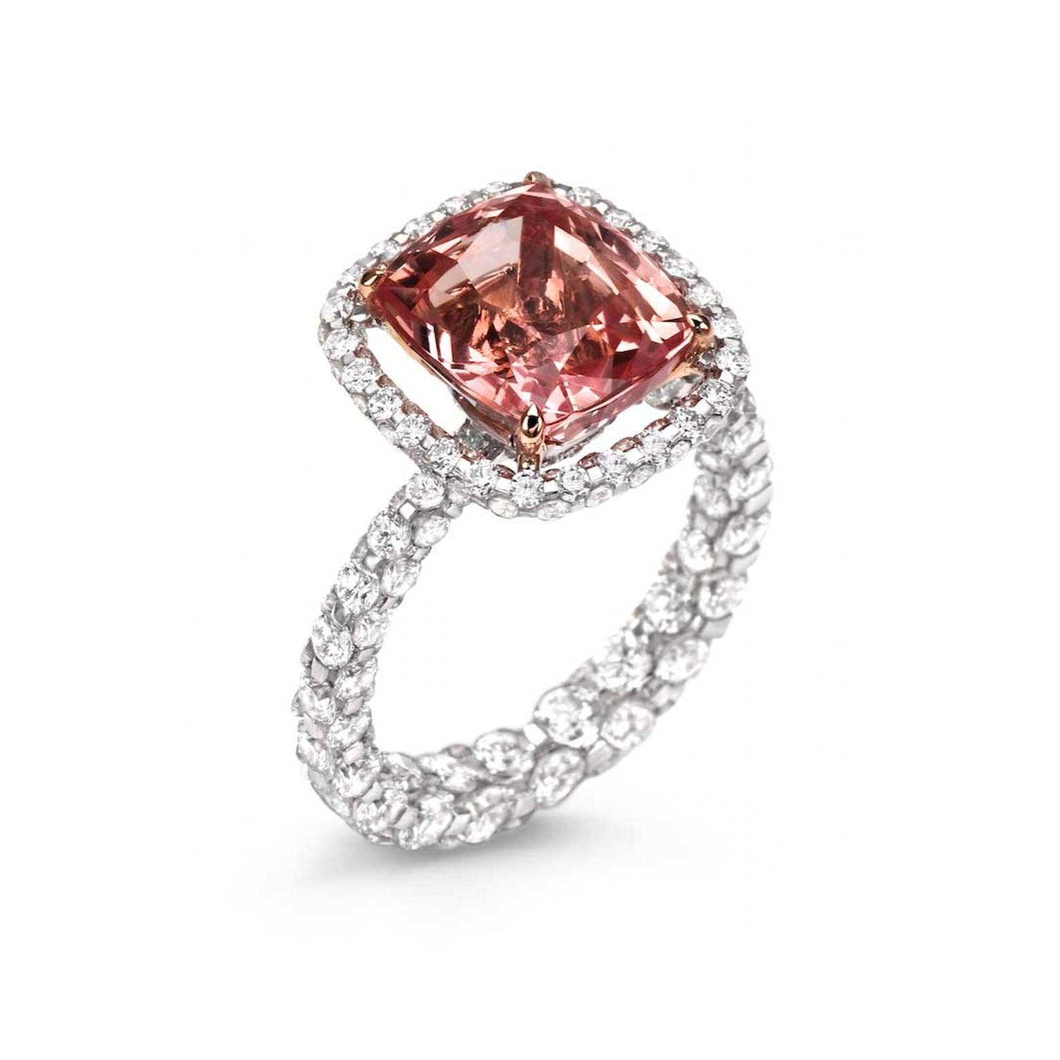 product carat sapphire cushion cut orange gia pad padparadscha peach