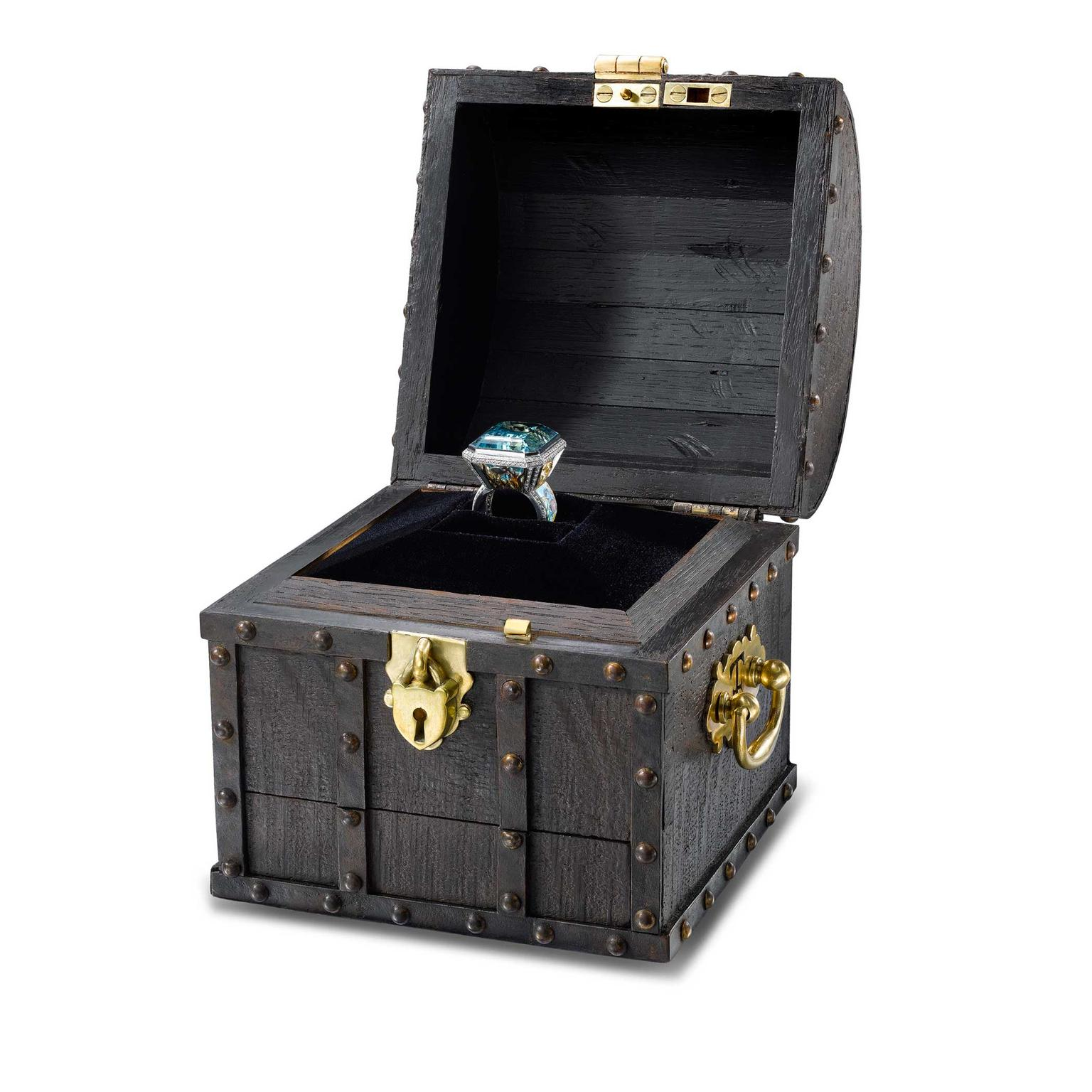 Theo Fennell Sub Aqua ring with one-of-a-kind chest