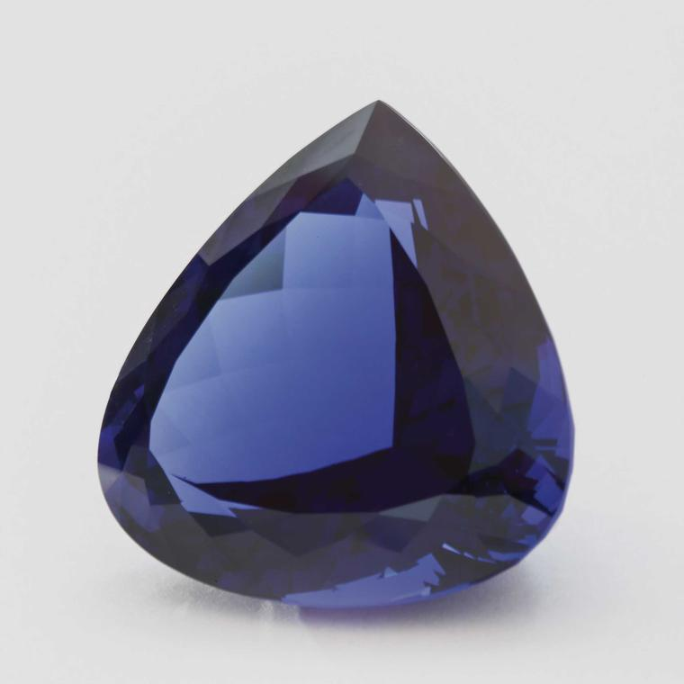 David Jerome Collection pear-shaped unmounted tanzanite