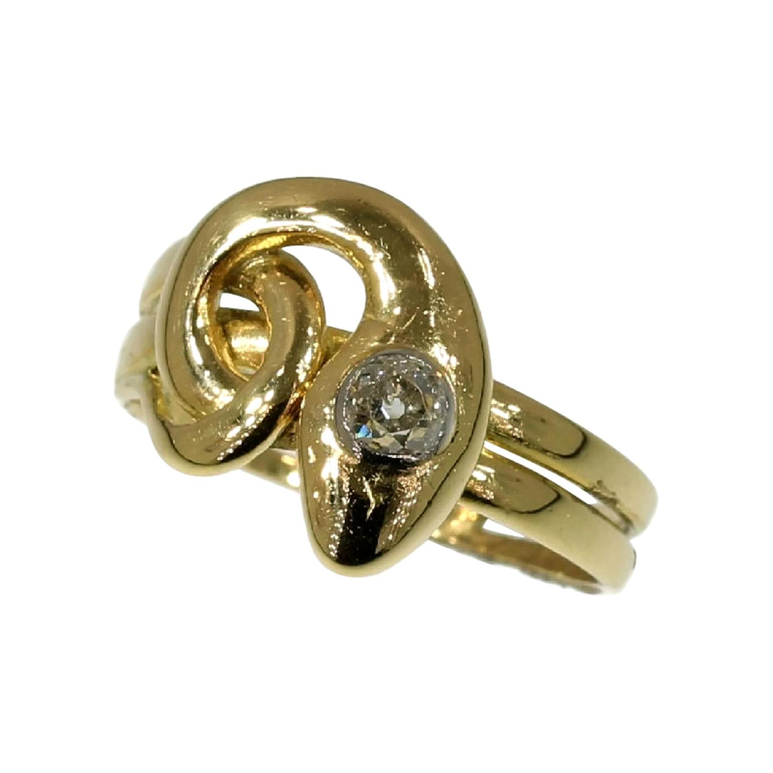 Adin Antique Jewellery Victorian snake ring