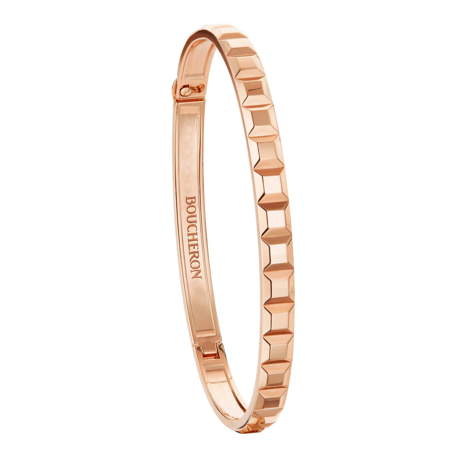Boucheron Clou de Paris bangle in rose gold