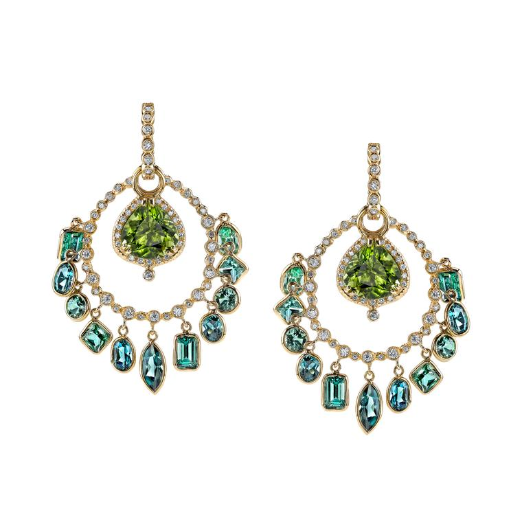 Erica Courtney Cha Cha tourmaline earrings