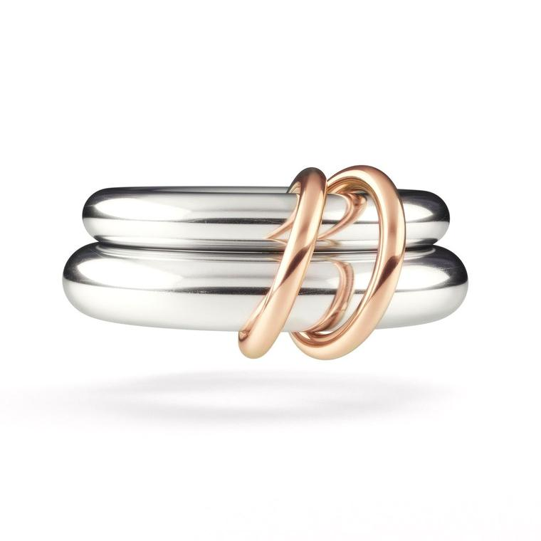 Virgo silver wedding ring