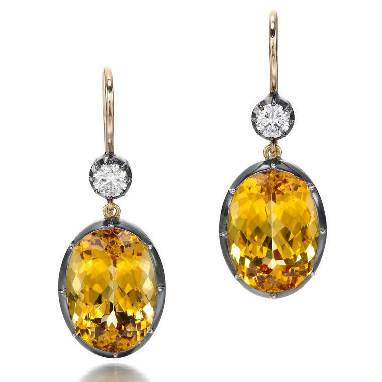 Jessica McCormack Imperial topaz dropp earrings