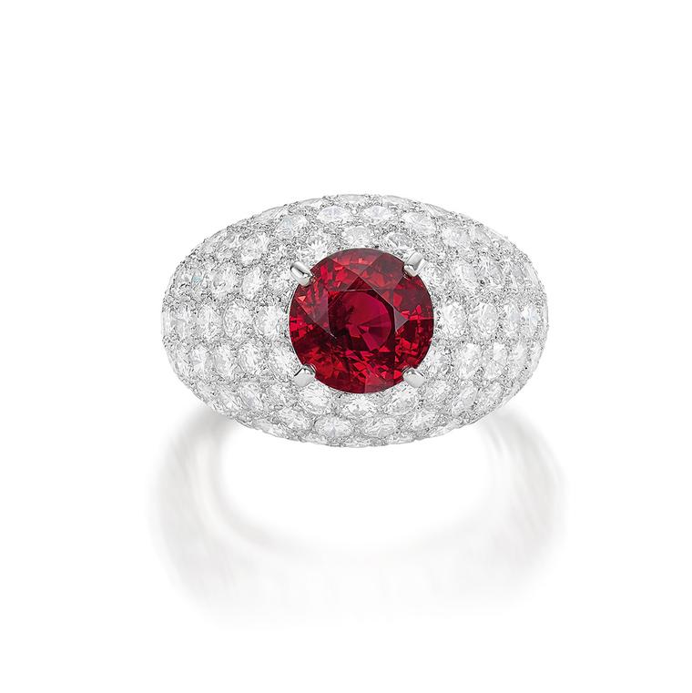 Lot 598 - Ruby ring by Cartier- Phillips Auction 5 June 2021