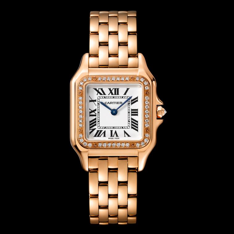 Medium size Panthère de Cartier watch in rose gold