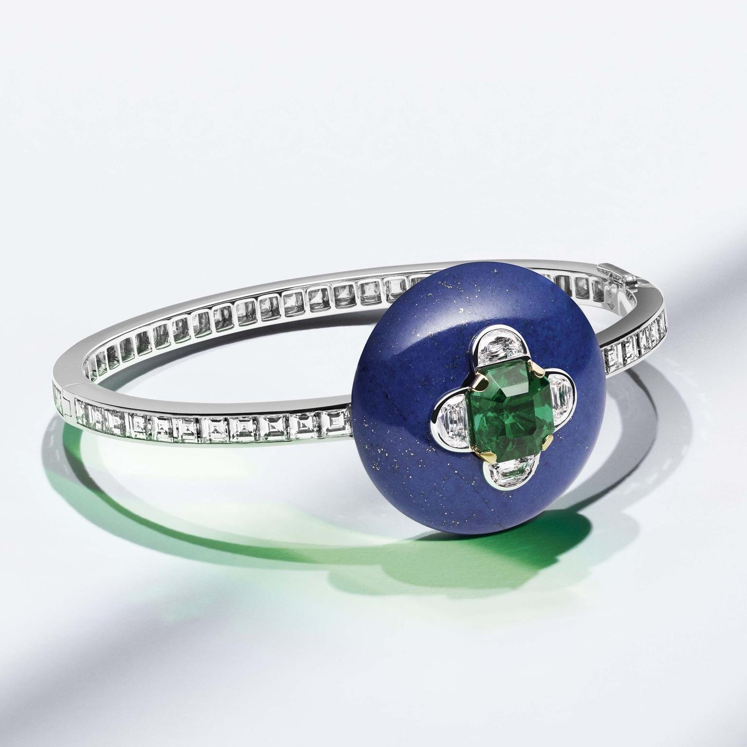 Louis Vuitton Riders of the Knights lapis lazuli diamond and emerald bracelet