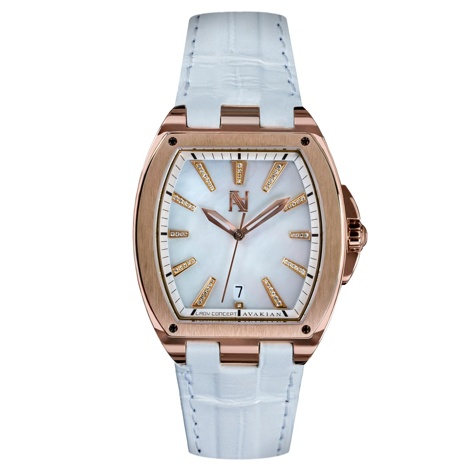Avakian Lady Concept white watch