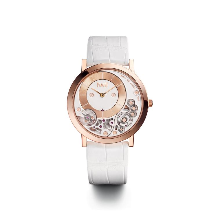 Piaget Altiplano 900P watch in pink gold
