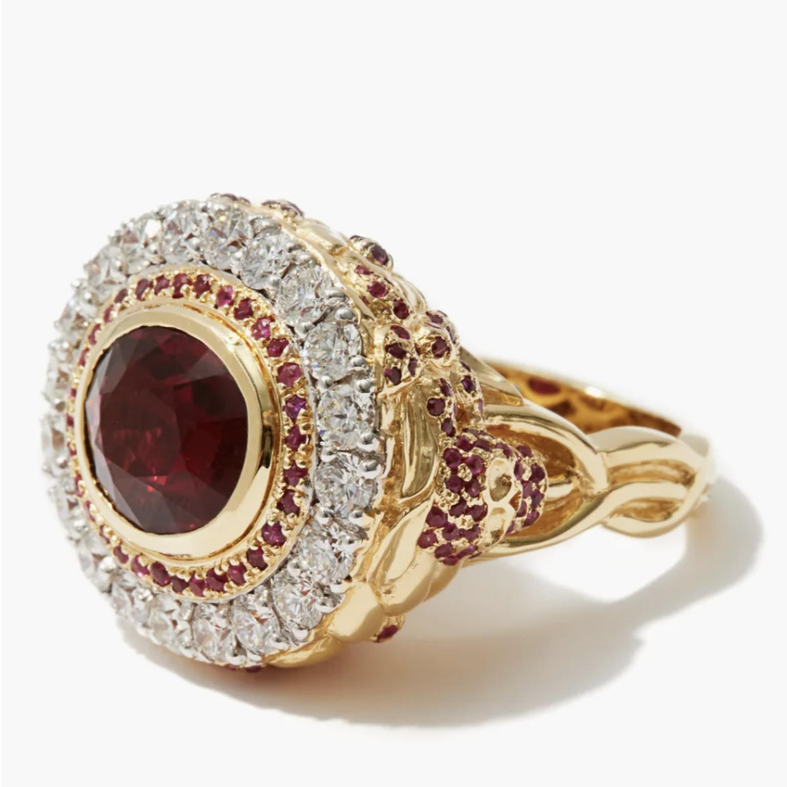 JADE JAGGER Diamond, ruby & 18kt gold cocktail ring  £7,500