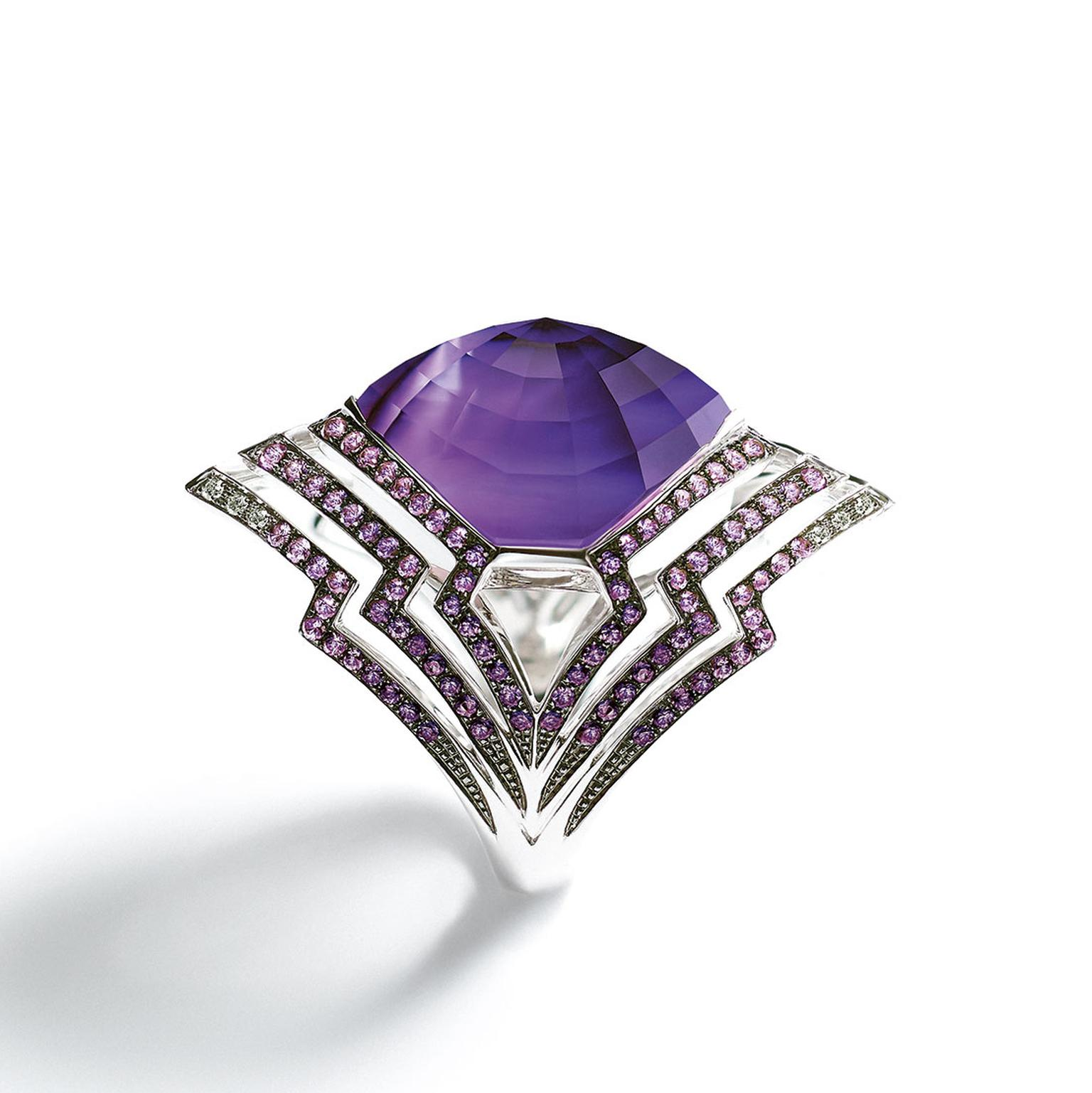Stephen Webster Lady Stardust amethyst ring