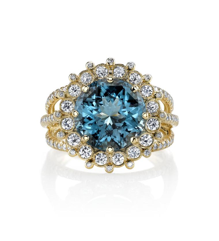 Erica Courtney cupcake blue zircon ring