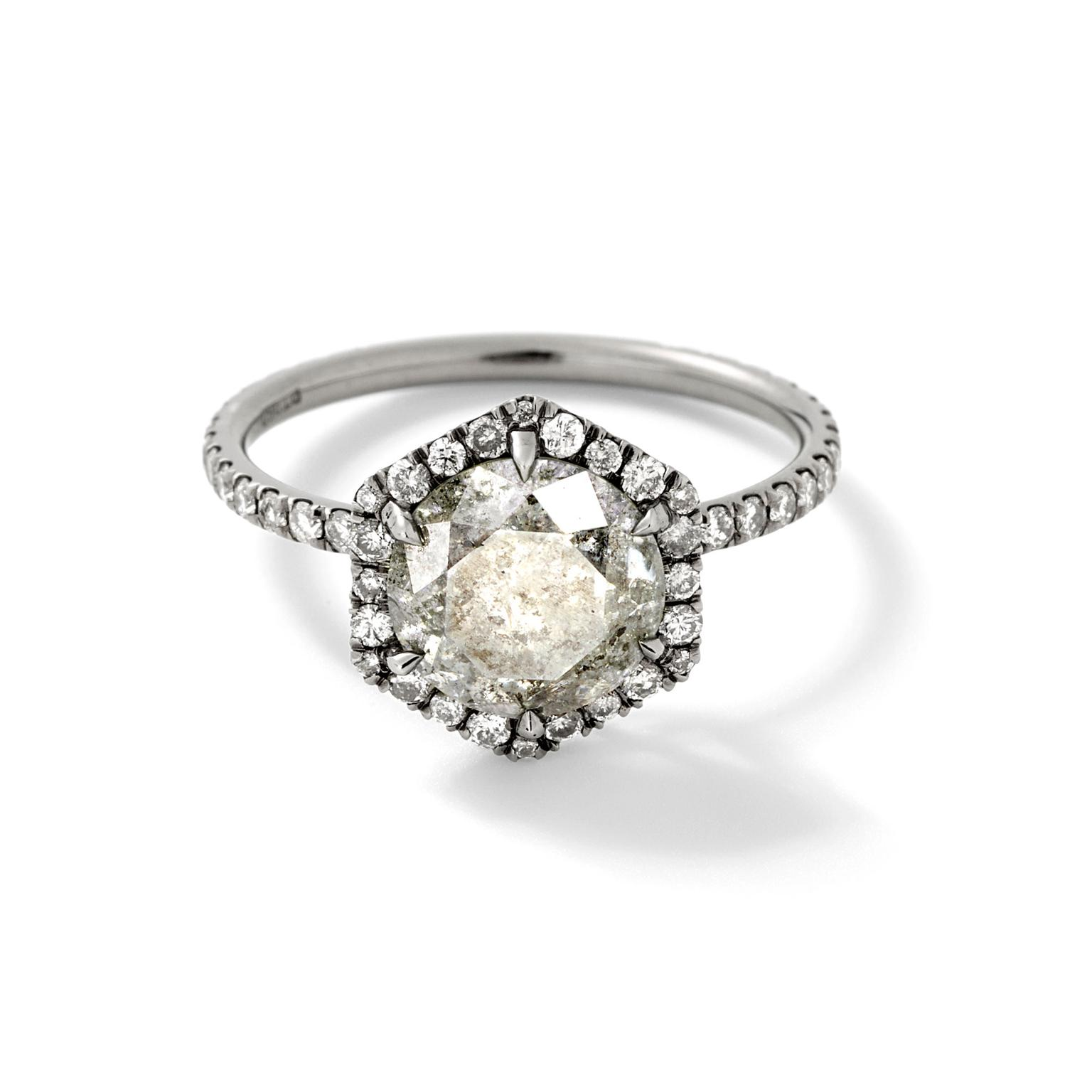 Eva Fehren Premier grey diamond ring
